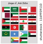 league of arab states flags | Shutterstock .eps vector #1169939110