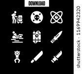 dangerous icon. 9 dangerous... | Shutterstock .eps vector #1169942320