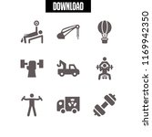 lift icon. 9 lift vector set.... | Shutterstock .eps vector #1169942350