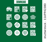 tyre icon. 16 tyre vector set.... | Shutterstock .eps vector #1169942380