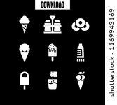 flavor icon. 9 flavor vector... | Shutterstock .eps vector #1169943169