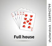 full house poker combination... | Shutterstock .eps vector #1169943799