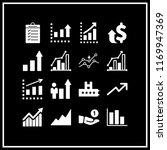 increase icon. 16 increase... | Shutterstock .eps vector #1169947369
