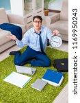 businessman taking work home... | Shutterstock . vector #1169950243