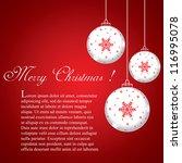 christmas balls   cut the paper ... | Shutterstock .eps vector #116995078