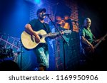 band performs on stage  rock... | Shutterstock . vector #1169950906