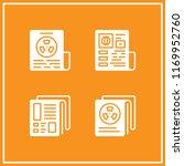 headline icon. 4 headline... | Shutterstock .eps vector #1169952760
