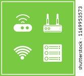 wi fi icon. 4 wi fi vector set. ...   Shutterstock .eps vector #1169953573