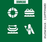 survival icon. 4 survival... | Shutterstock .eps vector #1169954680