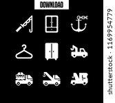 hook icon. 9 hook vector set....   Shutterstock .eps vector #1169954779