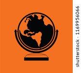 globe icon. orange background... | Shutterstock .eps vector #1169956066