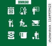 household icon. 9 household...   Shutterstock .eps vector #1169959423