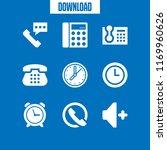 dial icon. 9 dial vector set.... | Shutterstock .eps vector #1169960626