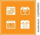 diary icon. 4 diary vector set. ... | Shutterstock .eps vector #1169960803