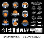 set of vector basketball logo ... | Shutterstock .eps vector #1169963020