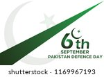 6th septermber. defence day... | Shutterstock .eps vector #1169967193