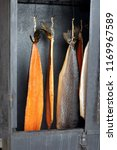 golden smoked salmon fish in a... | Shutterstock . vector #1169967589