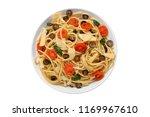 spaghetti alla puttanesca ... | Shutterstock . vector #1169967610