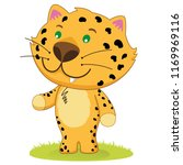 illustration of a baby leopard  ... | Shutterstock .eps vector #1169969116