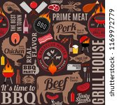 vector barbecue seamless... | Shutterstock .eps vector #1169972779