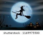 halloween background. young... | Shutterstock .eps vector #1169975500