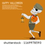 a skull boy with jack' o...   Shutterstock .eps vector #1169978593