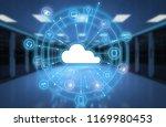 3d rendering cloud computing... | Shutterstock . vector #1169980453