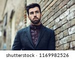 young bearded man  model of... | Shutterstock . vector #1169982526