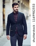 young bearded man  model of... | Shutterstock . vector #1169982553