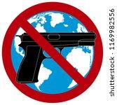 no guns world wide. guns not... | Shutterstock .eps vector #1169982556