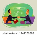 two businessman office workers... | Shutterstock .eps vector #1169983303
