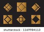 mosaic tiles square logo design ... | Shutterstock .eps vector #1169984113