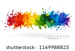 rainbow creative horizontal... | Shutterstock .eps vector #1169988823