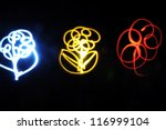 flowers by light painting | Shutterstock . vector #116999104