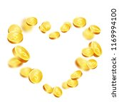 realistic gold coins explosion. ... | Shutterstock .eps vector #1169994100