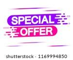 special offer  sale banner ... | Shutterstock .eps vector #1169994850