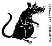 rat silhouette isolated on white | Shutterstock .eps vector #1169996689