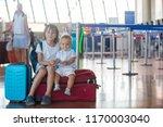 children  traveling together ... | Shutterstock . vector #1170003040