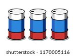 russian oil production   barrel ... | Shutterstock .eps vector #1170005116