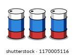 russian oil production   barrel ... | Shutterstock .eps vector #1170005116