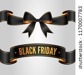 set of black bow and ribbon for ... | Shutterstock .eps vector #1170007783