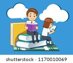student search knowledge with... | Shutterstock .eps vector #1170010069