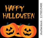 cartoon halloween pumpkins... | Shutterstock .eps vector #1170015400