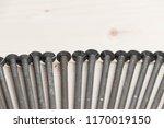 big nail spike carpenter  rusty ... | Shutterstock . vector #1170019150
