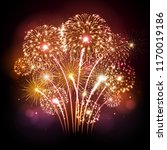 vector holiday festival golden... | Shutterstock .eps vector #1170019186