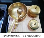 brass wok  cooking utensils  | Shutterstock . vector #1170020890