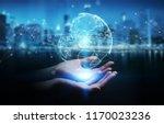 businesswoman on blurred... | Shutterstock . vector #1170023236