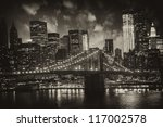 manhattan  new york city  ... | Shutterstock . vector #117002578