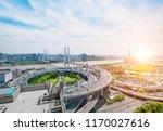 city highway overpass panoramic ... | Shutterstock . vector #1170027616
