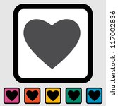 heart icon  black silhouette. | Shutterstock . vector #117002836